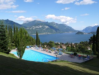 Italian Lake Apartment With Large Swimming Pool, Tennis Court, Lake Views