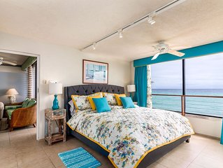 EASTER DATES AVAILABLE - Barbados Beachfront Condo with Hypnotic Sea Views