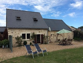 Luxury gite close to Le Loir, cycle network, chateaux and wine region