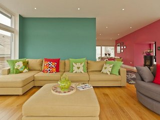 Lower Mill holiday house rental with shared indoor pool, balcony/terrace
