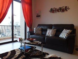 Modern Sunny Apartment With Balcony