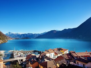 Modern Lake View Apartment In Argegno with breathtaking views