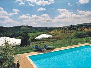 Villa in San Gimignano with 3 bedrooms sleeps 6