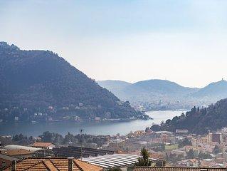 Un appartamento ampio e prestigioso a Cernobbio, sul Lago di Como.