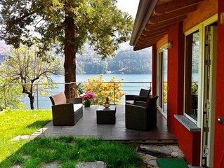 Casetta con ampio giardino, vista Lago di Como ' Sans Souci'