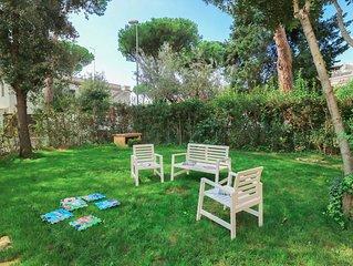 MR74 ✶ Santa Severa Blue Garden House ✶ 6 Guests Airco Wifi ✶ 300m from Beaches