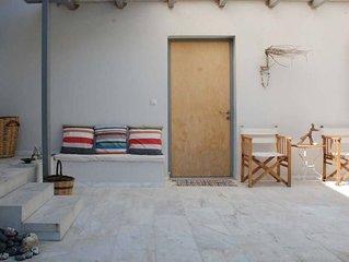 Eretria: Maison de plain-pied, dans une oliveraie, à 250 de la plage