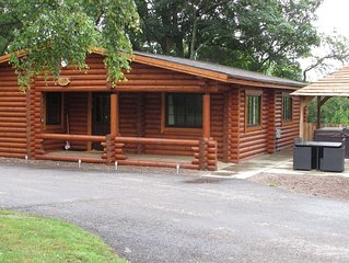 Luxury Real Log Cabin with Hot Tub, Felmoor Park, Northumberland