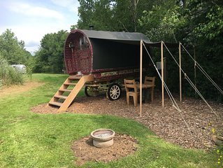 Authentic Gypsy Caravan with double bed