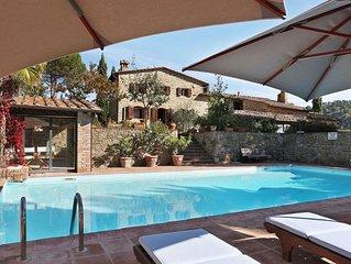 Villa a Gaiole In Chianti con 4 camere da letto e 8 posti letto