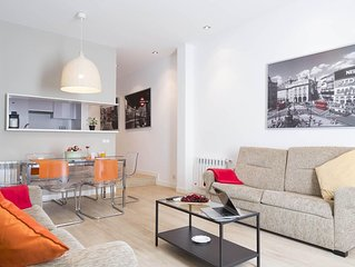 Gran Via 7 apartment in Gran Via with WiFi, integrated air conditioning, private