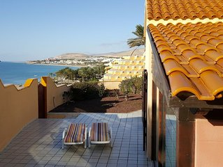 VILLA MARINA, ON THE SEA FRONT,  OUTSTANDING VIEWS OVER COSTA CALMA BAY.