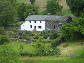 C17 farmhouse with spectacular views over Martindale and towards Ullswater.