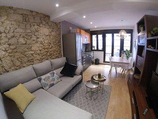 Apartamento-loft con terraza y parking en el centro histórico de Oviedo