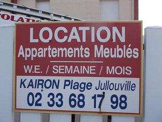 Jullouville  resid avec ascenseur dans environnement calme proche plage