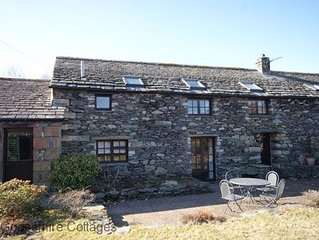Traditional 17th century Lakeland stone barn retaining many original features. H