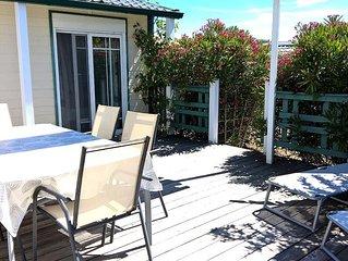 Camping de l'Auzance - Mobil Home Grand Confort 2 ch 40m² terrasse couv