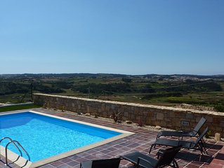Luxury villa with stunning views in a village Near Obidos, Silvercoast, Portugal