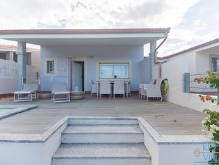 2 bedroom villa, private swimming pool,  internet WI-FI,close to beach and shops