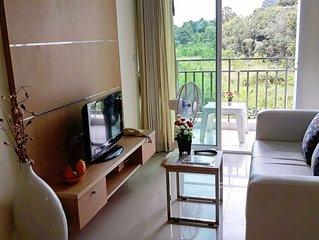 Preiswertes grosszugiges 2-Zimmer privat Appartement mit grossartiger Aussicht