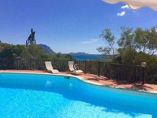 Fantastische Villa mit WLAN, Pool, Meerblick und Garten