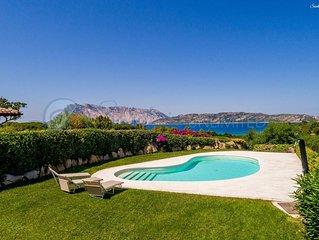 Villa a Capo Coda Cavallo con piscina e vista mare: Salinedda