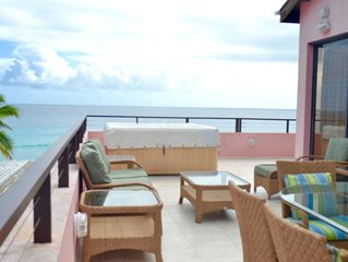 Awesome Rooftop Penthouse in St Lawrence Gap, overlooking the Caribbean Sea
