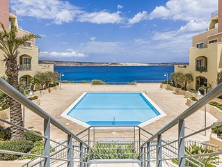 'SEASCAPES'  A Stunning Mellieha Apartment With Unobstructed Pool/Sea Views