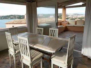 Ferienhaus mit fantastischem Meerblick, Veranda, WLAN und Klimaanlage
