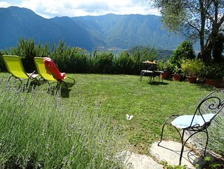 Lovely renovated barn, stunning lake views, olive grove, breeze +peace of mind