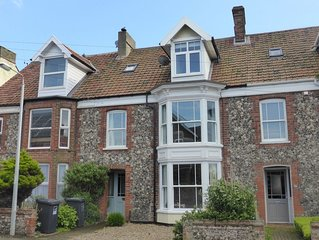 Beautiful traditional flint terraced house over three floors, easy walking dista