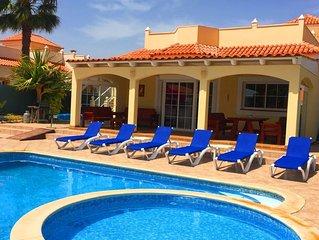 Luxury villa (sleeps 8)with private heated pool and seperate kiddies pool.