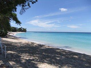 Southwind, beautiful, romantic, beachfront villa on Gibbs Beach, St.Peter