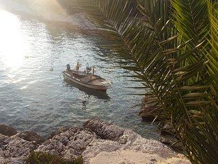 Sonnenverwöhnte Ferienwohnung mit Balkon und Meerblick, nah am Meer,