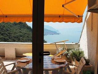 Gemütliche 2-Zimmer-Wohnung mit atemberaubender Sicht auf den Lago Maggiore