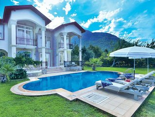 Modern villa with large pool and Wi-Fi, located close to popular resort