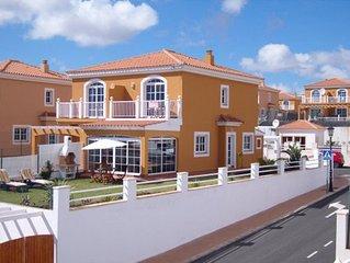 Caleta De Fuste: Belle maison avec jardin et vue sur mer