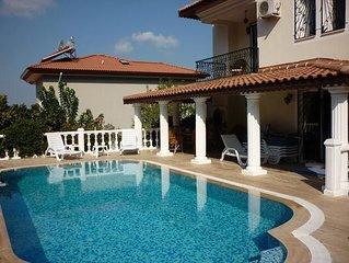 Spacious villa in excellent location in Ovacik. Sleeps 11