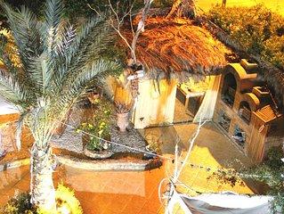 private Villa mit Pool - Jacuzzi - Garten - Barbecue Grill - Beduinenzelt uvm