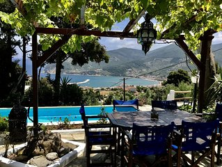 Skopelos, Romantic Cottage with private pool and gardens with amazing views