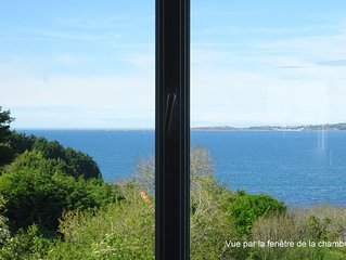 Meublé confortable avec vue panoramique sur la Baie de Lannion