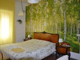 A 20' dal centro di Roma appartamento con giardino per 4/6 persone