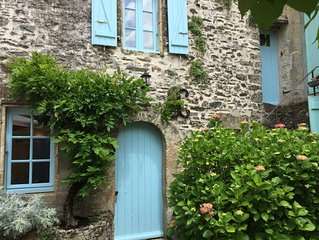 Charming old stone cottage in the Heart of the Village of Vouvant