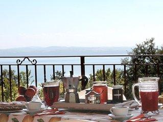 Villa immersa in bosco privato, splendida vista lago ed ampio spazio