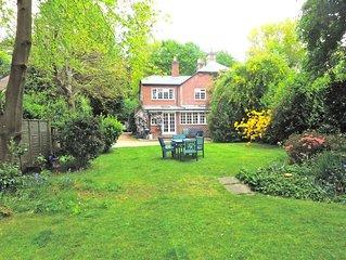 4 bedroom Cottage in large private garden off single track lane.