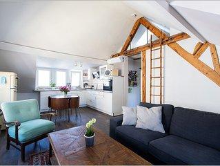 Appartment MILO:  3 Zimmer Dachgeschoss Wohnung, Klimatisiert und citynah