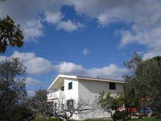 Villa con ampio giardino, barbecue immerso nel verde degli olivi, mirto, lentisc