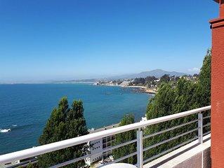 Apartamento 1H 1B con vista  frente al mar Caleta Higuerrillas, Concon