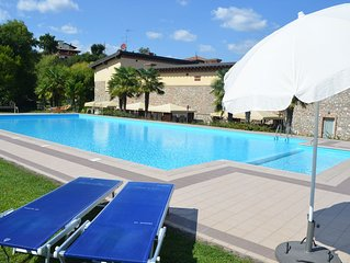 Converted 18th Century Farmhouse With Swimming Pool  Overlooking Lake Garda