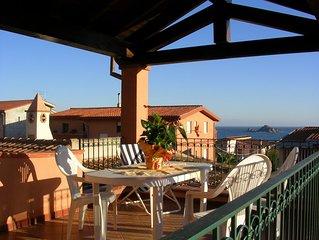 Ferienhaus mit herrlichem Meerblick, 500 Meter vom Strand und Klippen